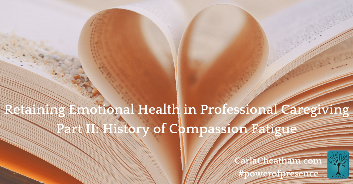 retaining emotional health in professional caregiving part ii